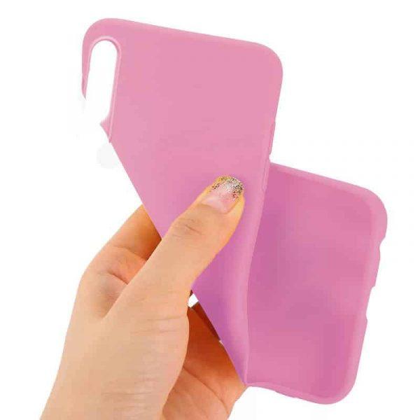 funda silicona huawei p30 rosa2