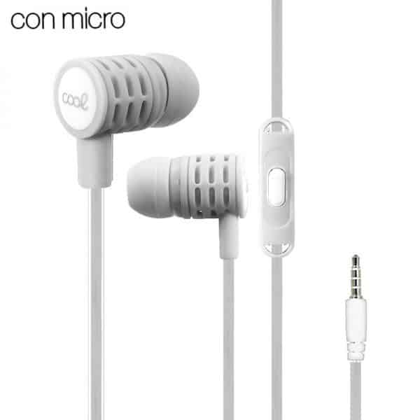 auriculares 35 mm cool extra bass stereo con micro gris2