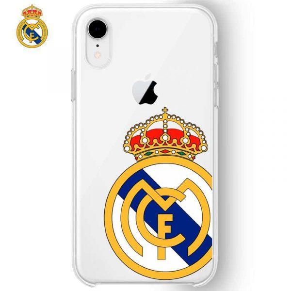 Carcasa iPhone XR Licencia Fútbol Real Madrid Transparente Escudo 1