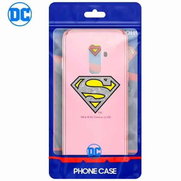 Carcasa Samsung A605 Galaxy A6 Plus Licencia DC Glitter Superman 2