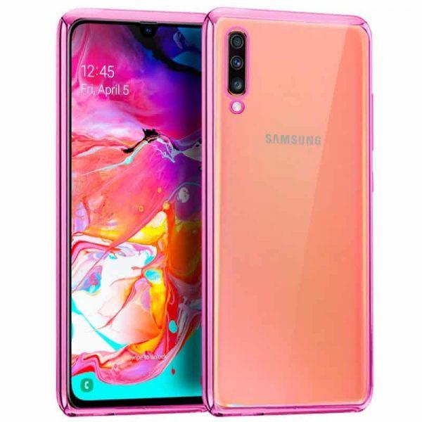Carcasa Samsung A705 Galaxy A70 Borde Metalizado (Rosa) 1