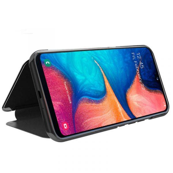 Funda Flip Cover Samsung Galaxy A20e Clear View Negro 3
