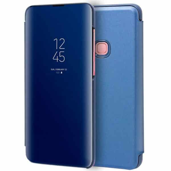 funda flip cover samsung a920 galaxy a9 2018 clear view azul