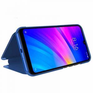 Funda Flip Cover Xiaomi Redmi 7 Clear View Azul 4