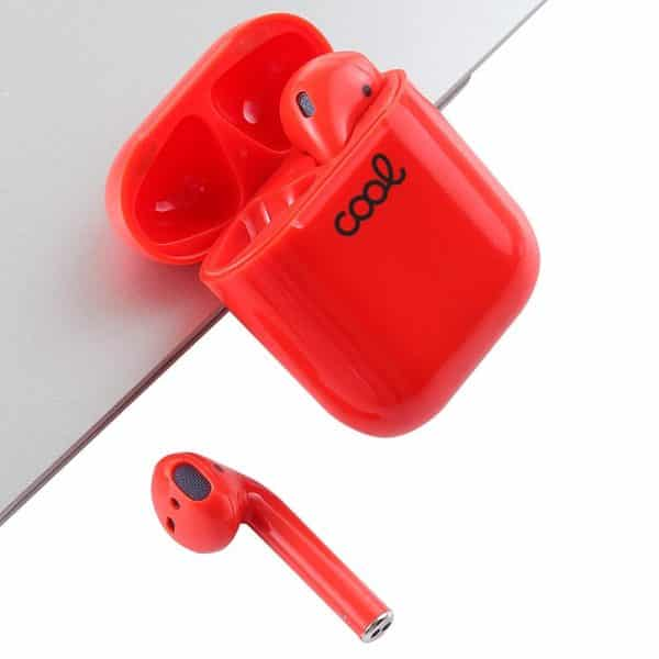 Auriculares Bluetooth Dual Pod COOL AIR V2 Premium + Powerbank (Rojo) 2