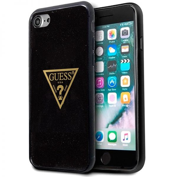 Carcasa iPhone 7 / iPhone 8 / SE 2020 Licencia Guess Logo Dorado 1