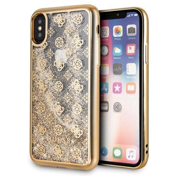 carcasa iphone x iphone xs licencia guess liquid dorado1