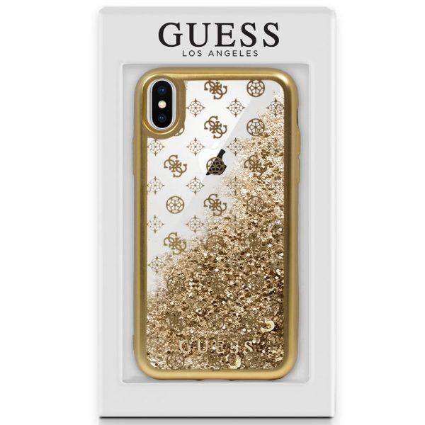 carcasa iphone x iphone xs licencia guess liquid dorado2 1