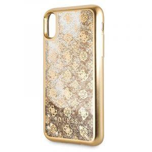 carcasa iphone x iphone xs licencia guess liquid dorado3 1