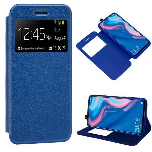 funda flip cover huawei p smart z liso azul