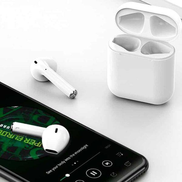 auriculares stereo bluetooth dual pod cool air v2 premium powerbank blanco4