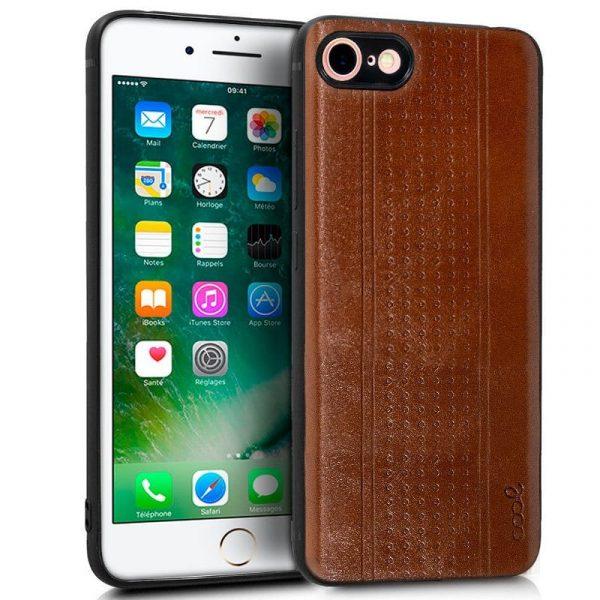 carcasa iphone 7 iphone 8 leather piel marron