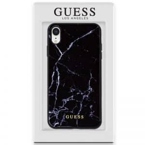 carcasa iphone xr licencia guess marmol negro2