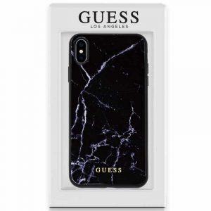 Carcasa iPhone XS Max Licencia Guess Mármol Negro 3