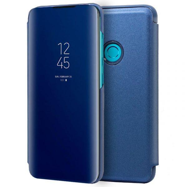 funda flip cover huawei p smart plus 2019 clear view azul