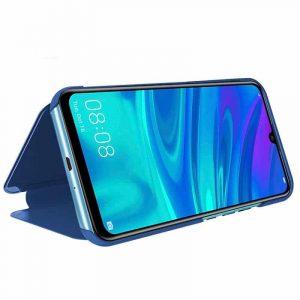 funda flip cover huawei p smart plus 2019 clear view azul2