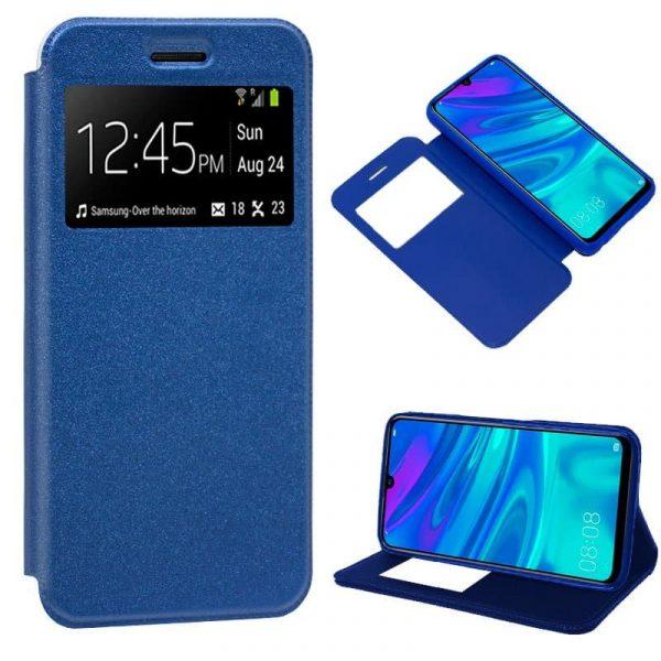 funda flip cover huawei p smart plus 2019 liso azul