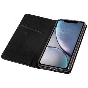 funda flip cover iphone xr liso negro 3