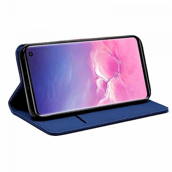 funda flip cover samsung g973 galaxy s10 liso azul2
