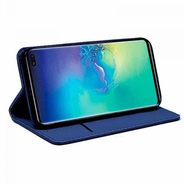 Funda Flip Cover Samsung Galaxy S10 Plus Liso Azul 2