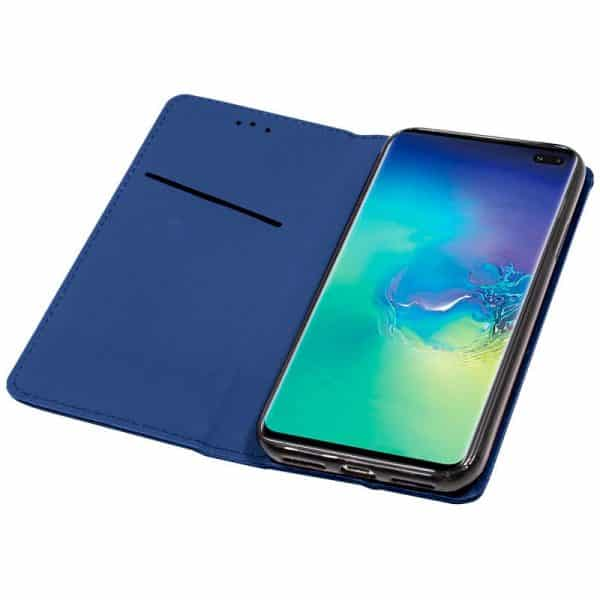 Funda Flip Cover Samsung Galaxy S10 Plus Liso Azul 3