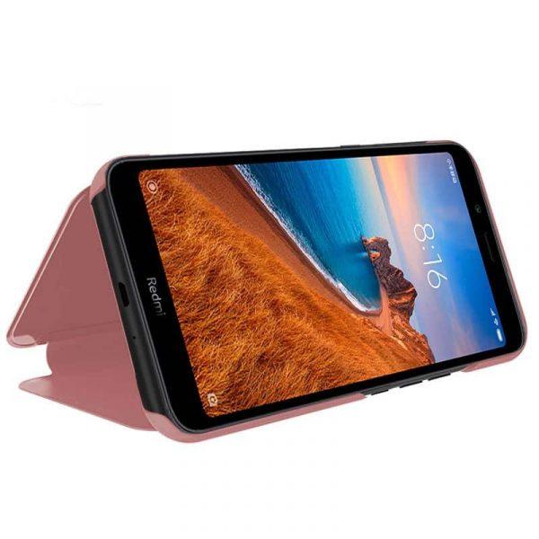 Funda Con Tapa Xiaomi Redmi 7A Clear View Rosa 2