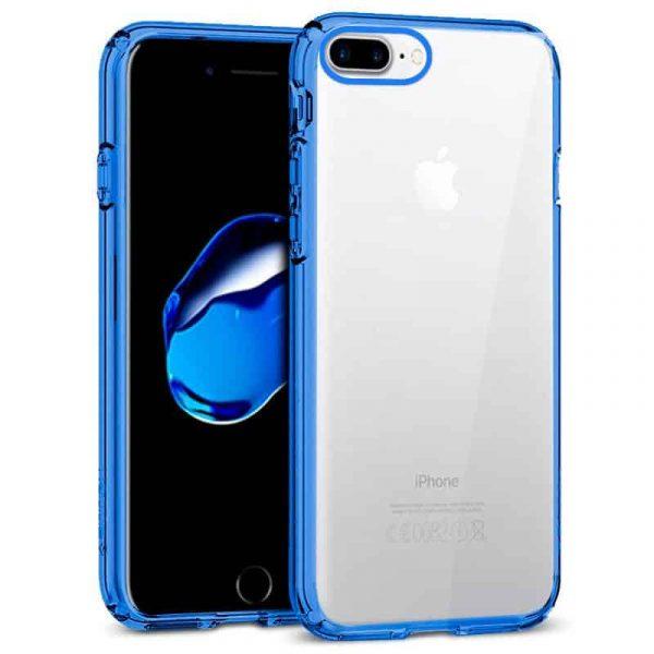 Carcasa iPhone 7 Plus / iPhone 8 Plus Borde Metalizado (Azul) 1