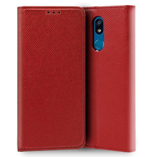 Funda Con Tapa LG K40 Liso Rojo 1