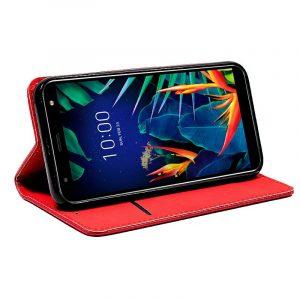 Funda Con Tapa LG K40 Liso Rojo 5