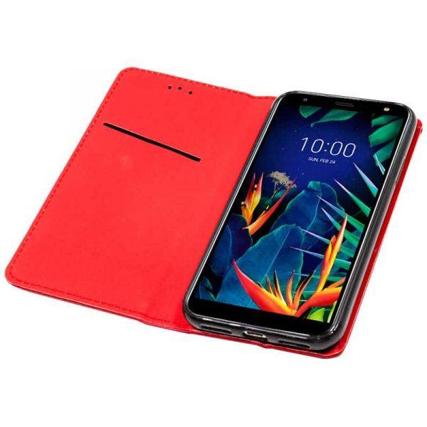 Funda Con Tapa LG K40 Liso Rojo 2