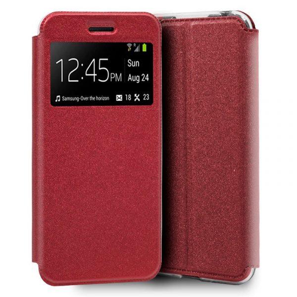 Funda Con Tapa Xiaomi Mi A3 Liso Rojo 1