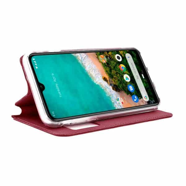 Funda Con Tapa Xiaomi Mi A3 Liso Rojo 2