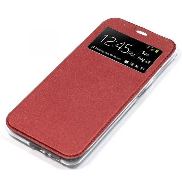 Funda Con Tapa Xiaomi Mi A3 Liso Rojo 3