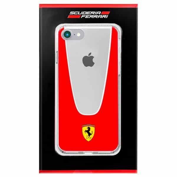 Carcasa iPhone 7 / iPhone 8 / SE 2020 Licencia Ferrari Transparente Line Rojo 2