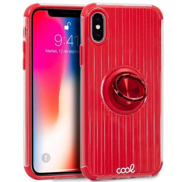 carcasa iphone x iphone xs hard anilla rojo1