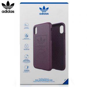 carcasa iphone x iphone xs licencia adidas hard violeta1