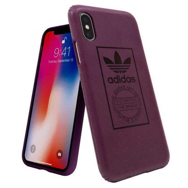 carcasa iphone x iphone xs licencia adidas hard violeta2