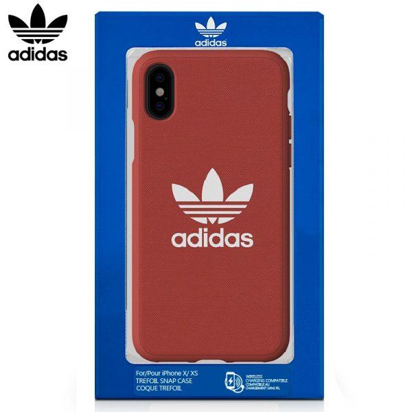 carcasa iphone x iphone xs licencia adidas tela rojo1
