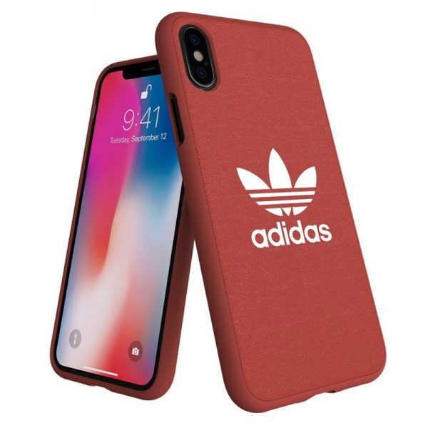 carcasa iphone x iphone xs licencia adidas tela rojo2