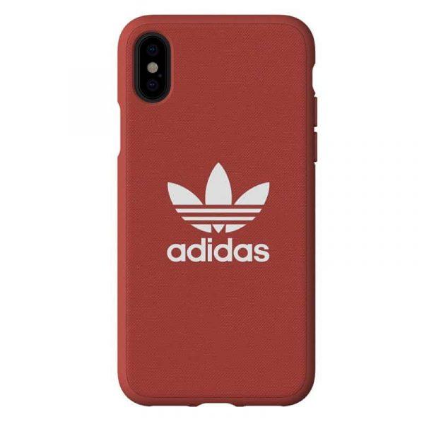 carcasa iphone x iphone xs licencia adidas tela rojo3