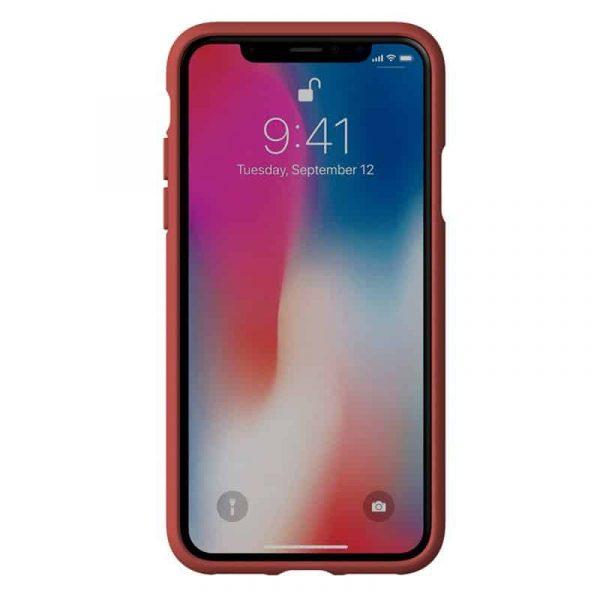 carcasa iphone x iphone xs licencia adidas tela rojo4