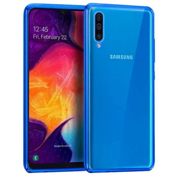 carcasa samsung galaxy a50 a30s borde metalizado azul1