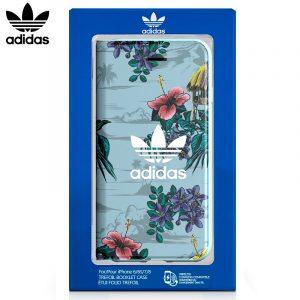 Funda Con Tapa  iPhone 7 / iPhone 8 / SE 2020 Licencia Adidas Flores 5