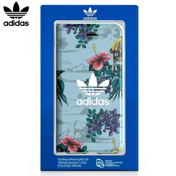 Funda Con Tapa  iPhone 7 / iPhone 8 / SE 2020 Licencia Adidas Flores 2