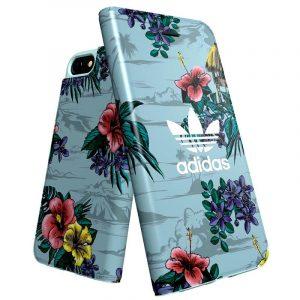 Funda Con Tapa  iPhone 7 / iPhone 8 / SE 2020 Licencia Adidas Flores 6