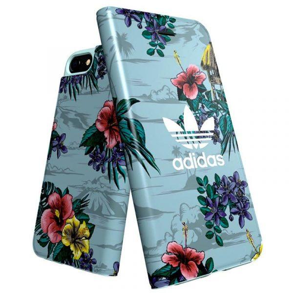 Funda Con Tapa  iPhone 7 / iPhone 8 / SE 2020 Licencia Adidas Flores 3