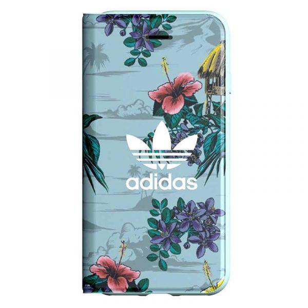 Funda Con Tapa  iPhone 7 / iPhone 8 / SE 2020 Licencia Adidas Flores 1
