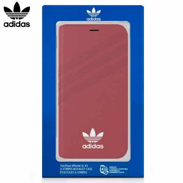 funda flip cover iphone x iphone xs licencia adidas rosa1