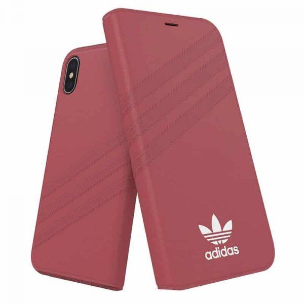 funda flip cover iphone x iphone xs licencia adidas rosa2