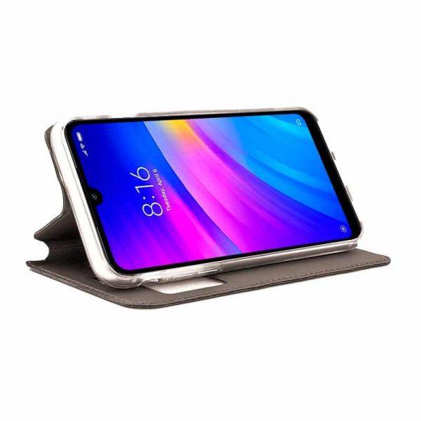 Funda Con Tapa Xiaomi Redmi 7 Liso Bronce 2